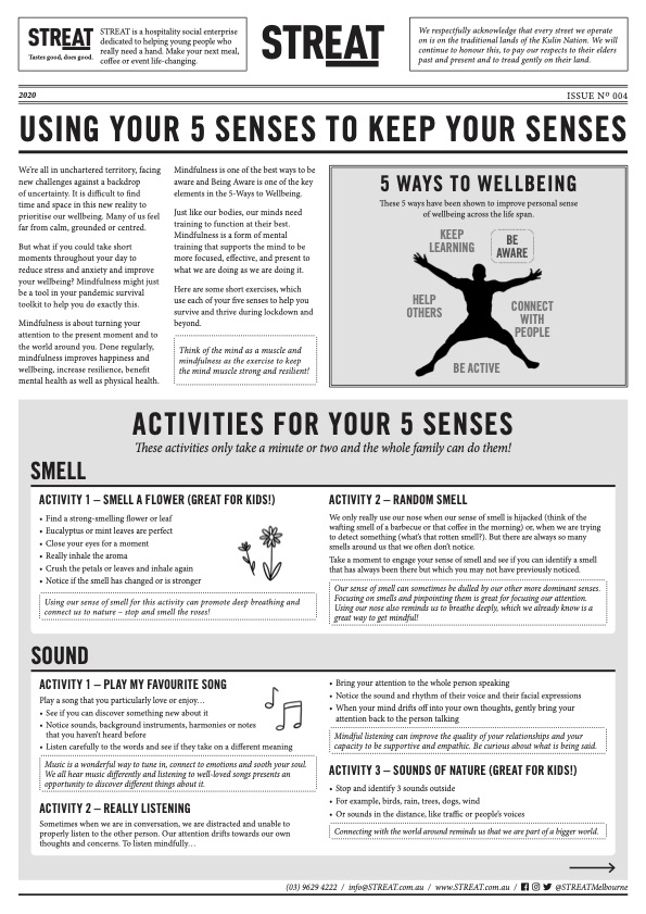 Worksheet - Using your 5 Senses